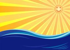 Sun y mar Foto de archivo libre de regalías