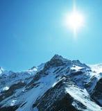 Sun y nieve Fotografía de archivo