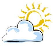 Sun y nube Imagen de archivo