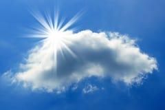 Sun y nube Foto de archivo