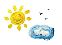 Sun y nube libre illustration