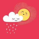 Sun y nube Imágenes de archivo libres de regalías
