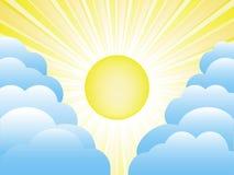 Sun y nubes Fotografía de archivo