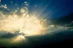 Sun y nubes Fotos de archivo