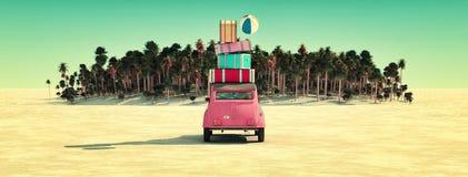 Sun y playa Imagen de archivo libre de regalías