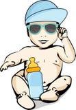 Sun y protección del calor para los bebés Imágenes de archivo libres de regalías