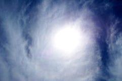 Sun y textura de la nube Foto de archivo