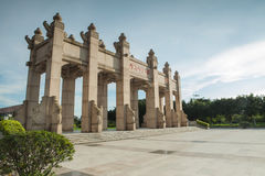 Sun Yat-arch front Royalty Free Stock Image