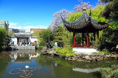 Sun Yat-sen Garden in Spring, Vancouver, B.C. royalty free stock photography
