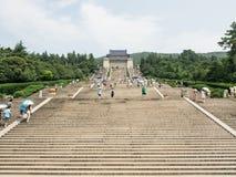 The Sun Yat-sen Mausoleum. Sun Yat-sen is the forerunner of the democratic revolution in modern China Sun Yat-sen 's Mausoleum , and its subsidiary memorial Royalty Free Stock Photo