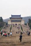 Sun Yat-sen Mausoleum. The main hall of Dr. Sun Yat-sen Mausoleum Zhongshan Ling in Purple Mountain, Nanjing, Jiangsu Province, China Stock Image