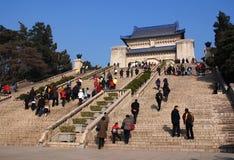 Sun Yat-sen Mausoleum (Zhongshan Ling). Monument at the Sun Yat-sen mausoleum in Nanjing, China Stock Photo