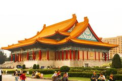 Sun Yat-Sen Memorial Hall The building must see attraction in Taiwan. Taiwan - Apr 15, 2017, Editorail use only; Sun Yat-Sen Memorial Hall The building must see stock images