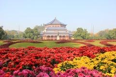 Sun Yat-sen Memorial Hall, door Lu Yanzhi wordt die en wordt gebouwd ontworpen die met Stock Foto