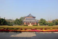 Sun Yat-sen Memorial Hall, door Lu Yanzhi wordt die en wordt gebouwd ontworpen die met Stock Afbeelding