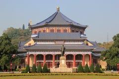 Sun Yat-sen Memorial Hall, door Lu Yanzhi wordt die en wordt gebouwd ontworpen die met Royalty-vrije Stock Afbeelding