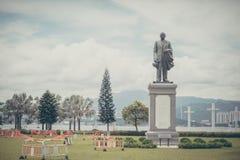 Sun Yat sen memorial statue in a garden Stock Photos