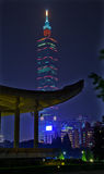 Sun Yat-sen minnes- Hall som bygger 101 Taipei Arkivbilder