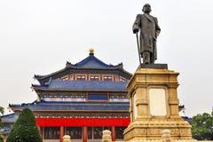 Sun Yat-sen minnesmärke Hall Statue Guangzhou Guangdong China Arkivbild