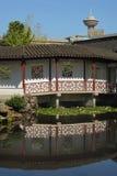 Sun Yat Sen Park Reflection, Vancouver Stock Photo