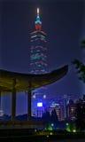 Sun Yat-sen pasillo conmemorativo que construye 101 Taipei Imagenes de archivo