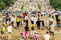Sun Yat-sen pendant la saison de touristes Image libre de droits