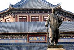 Sun Yat-Sen  statue. Dr  Sun Yat-Sen bronze statue stands before his memorial hall,Guangzhou,Guangdong,China Stock Photo