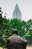 Sun yat sen statue's back. In Nanjing President Office Site Royalty Free Stock Photo
