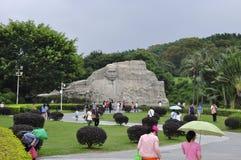 Sun yat-sen statue stock photo