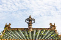 Sun Yatsen Memorial Hall roof Royalty Free Stock Images