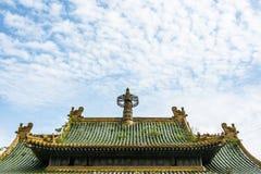 Sun Yatsen Memorial Hall roof Stock Photos