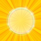 Sun Yellow Beams with Transparent Bubble Royalty Free Stock Images