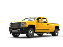 Sun yellow modern pickup truck Royalty Free Stock Image