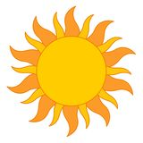 Sun-Zeichen Lizenzfreie Stockfotos