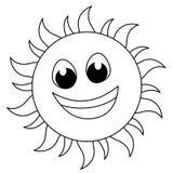 Sun-Zeichen stock abbildung