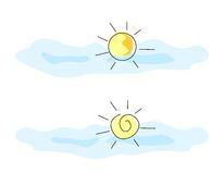 Sun-Zeichen Lizenzfreies Stockbild