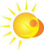 Sun-Zeichen Lizenzfreies Stockfoto