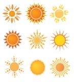 Sun-Zeichenset Lizenzfreie Stockfotografie