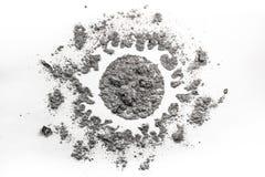 Sun-Zeichnung gemacht im Staub, Schmutz, Asche, Sand als Sonnenlicht, Universum, Lizenzfreie Stockfotos
