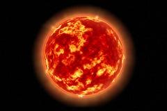 The Sun zoals die van ruimte wordt gezien Royalty-vrije Stock Foto