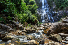 Sunanta Waterfall in Khao Nan National Park Royalty Free Stock Photography