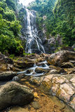 Sunanta Waterfall in Khao Nan National Park Royalty Free Stock Photos