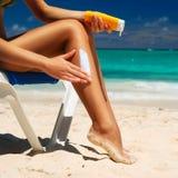 sunbath采取 免版税库存图片