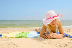 sunbath采取 图库摄影