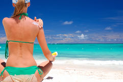 sunbath παίρνοντας Στοκ εικόνα με δικαίωμα ελεύθερης χρήσης