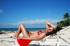sunbath Кеймана грандиозное Стоковые Фото