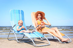 Sunbath royalty-vrije stock foto's