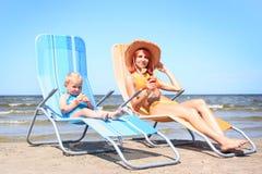 Sunbath Royalty Free Stock Photos