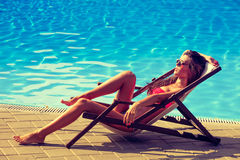 Sunbath Lizenzfreies Stockfoto