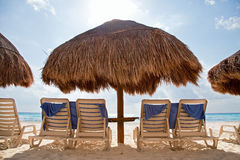 Sunbath at the beach Stock Photography
